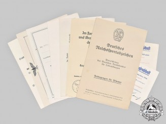Germany, Third Reich. A Lot of Award and Qualification Documents