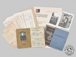 Germany, Kriegsmarine. A Lot of Documents to DKG Recipient Oberbootsmannsmaat Kellner