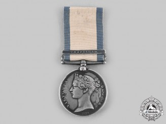 United Kingdom. A Naval General Service Medal, Trafalgar Bar