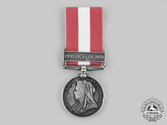 United Kingdom. A Canada General Service Medal 1866-1870, St. Catherines Garrison Artillery