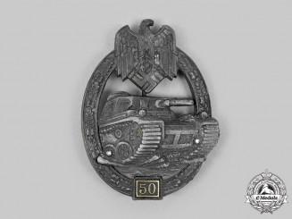 Germany. A Silver Grade Tank Badge; Special Grade 50, by C.E. Juncker