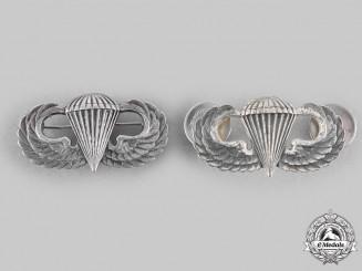 United States. Two Basic Parachutist Badges