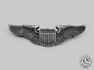 United States. An Army Air Force Pilot Badge, Reduced Size, c.1941