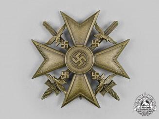 Germany. A Spanish Cross, in Bronze, with Swords, by Steinhauer & Lück, Lüdenscheid