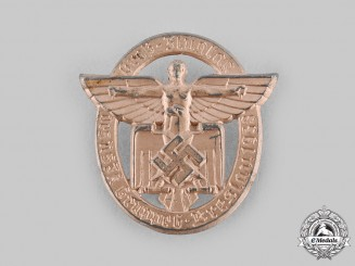 Germany, NSFK. A 1938 National Socialist Flyers Corps Breslau Flight Day Commemorative Badge
