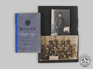 Germany, Imperial. A Military ID Booklet and Two Photos of Gefreiter Heimlich (EK2)