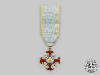 Italy, Kingdom of Two Sicilies. A Royal Military Order of St. George of the Reunion, Knight's Cross of Grace in Gold, c. 1870