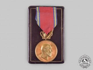 Mecklenburg-Schwerin, Grand Duchy. A Friedrich Franz II Bronze Merit Medal, with Case, by Kullrich, c. 1900