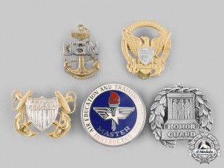 United States. A Lot of Five Badges