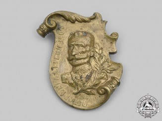 Serbia, Kingdom. A Bronze King Peter Plaque, 1904