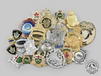 Canada. A Lot of Twenty-Two Police, Fire, Corrections and Inspector Departmental Badges