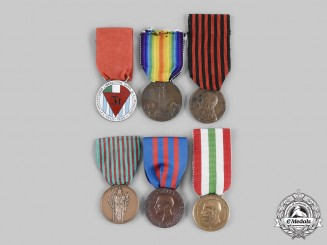 Italy, Kingdom, Republic. A Lot of Six Medals