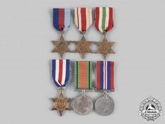 United Kingdom. A Lot of Six Second War Medals