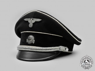 Germany, SS. An Allgemeine-SS Officer's Visor Cap, Owner-Attributed, by Wisgens & Co.