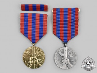 Czechoslovakia, Socialist Republic. Two Medals of the Union of the Fighters Against Fascism