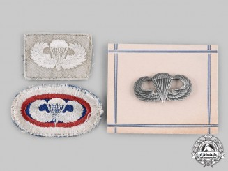 United States. Three Parachutist Badges