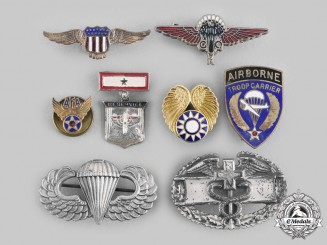 United States, United Kingdom, China. A Lot of Eight Army and Air Force Badges