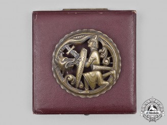 Germany, SS. A Superb SS-Issued Patriotic Badge by Otto Gahr, with Case