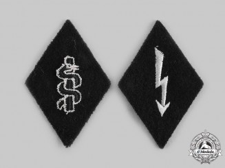Germany, SS. A Pair of SS Sleeve Diamond Insignia
