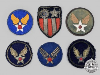 United States. A China Burma India Sleeve and Group of Air Force Sleeve Insignias