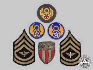 United States. An Assortment of Second World War Insignia Patches