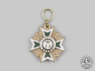 Saxony, Kingdom. An Order of the Rue Crown, Miniature, c. 1900