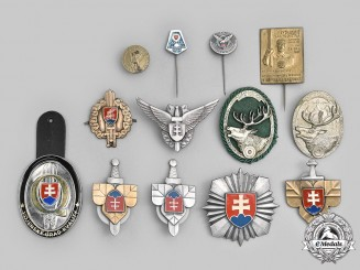 Slovakia, Republic. Lot of Thirteen Armed Forces Badges