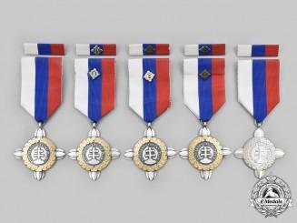 Slovakia, Republic. Five Commemorative Crosses of the Slovak Regiment of Honour