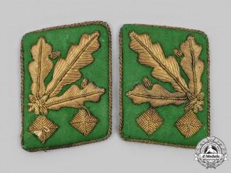 Germany, Ordnungspolizei. A Rare Set of General der Polizei Collar Tabs
