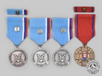 Slovakia, Republic. A Lot of Four Medals