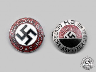 Germany, Third Reich. A Pair of Membership Badges