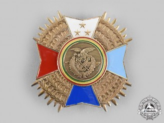 Bolivia, Plurinational State. An Order of the Armed Forces, Breast Star
