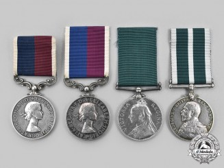 United Kingdom. Lot of Four Long Service Medals