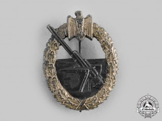 Germany, Kriegsmarine. A Coastal Artillery Badge, by Hermann Aurich