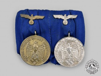 Germany, Wehrmacht. A Wehrmacht Long Service Medal Bar