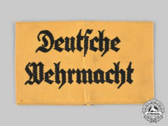 Germany, Wehrmacht. A Wehrmacht Civilian Auxiliary Armband