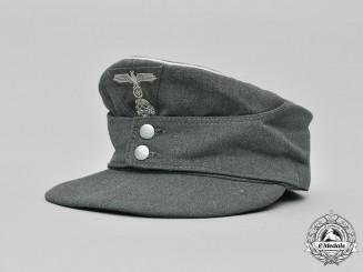 Germany, SS. A Waffen-SS Infantry Field-Grade Officer's M43 Field Cap