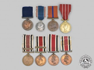 United Kingdom. Lot of Eight Awards
