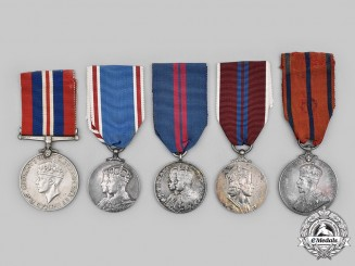 United Kingdom. A Lot of Five Medals