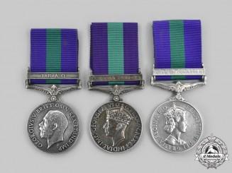 United Kingdom. A Lot of Three General Service Medals 1918-1962
