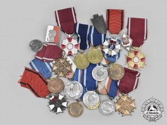 Poland, Republic, People's Republic. A Lot of Twenty Awards and Badges
