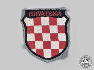 Germany, Wehrmacht. A 369th Croatian Reinforced Infantry Regiment Sleeve Shield