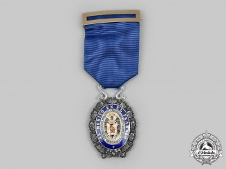 Spain. An Industrial Award for Merit, Breast Badge in Gold and Diamonds, c. 1940