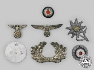 Germany, Third Reich. A Mixed Lot of Cap Insignia