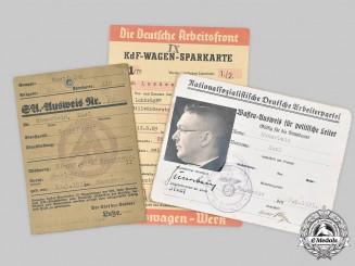 Germany, NSDAP. A SA Membership Card and Firearms Permit for Gau-Level Political Leader Karl Hünerbein