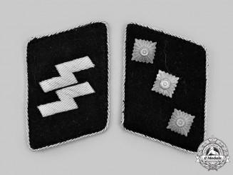 Germany, SS. A Set of Waffen-SS Sturmführer Collar Tabs