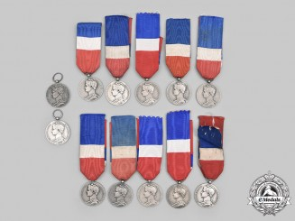 France, Third, Fourth and Fifth Republics. A Lot of Twelve Ministry of Labour and Social Security II Class Honour Medals