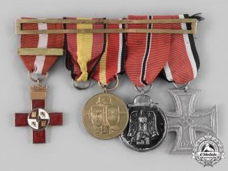 Spain, Fascist State. A Medal Bar for a Blue Division Veteran