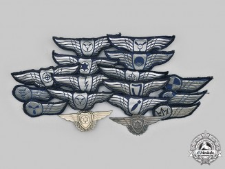 Israel, State. A Lot of Seventeen Israeli Air Force Pilot and Qualification Badges
