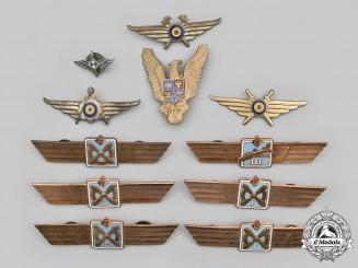 Romania, People's Republic; Germany, German Democratic Republic. A Lot of Ten Air Force Badges